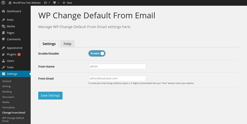 WP_Change_Default_From_Email_Screenshot