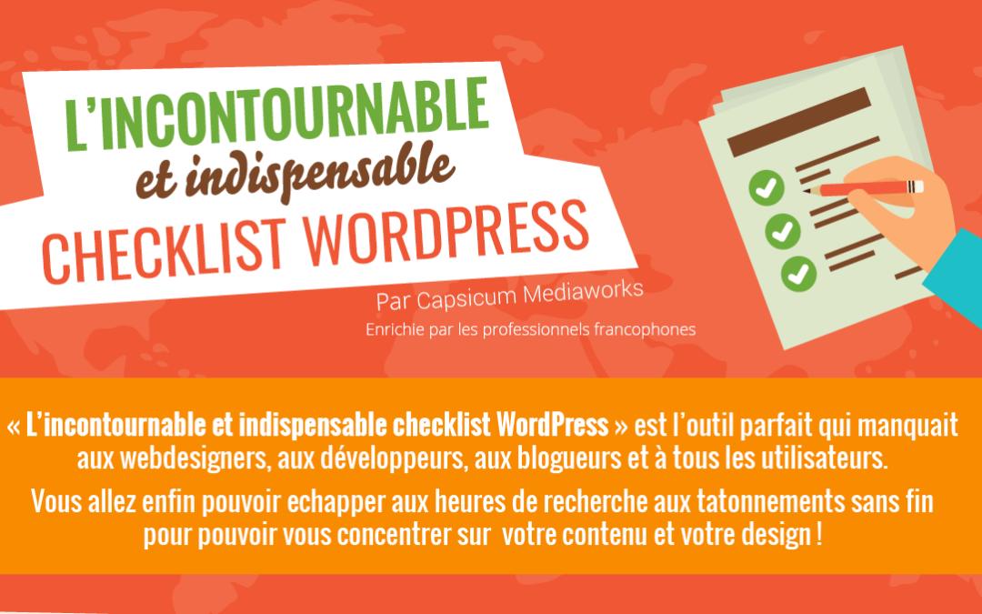 INFOGRAPHIE: L'incontournable checklist WordPresspour votre site